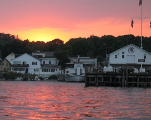 Sunset at Mackinac's Harbor