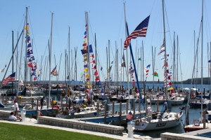 Sailboat Race Mackinac State Harbor