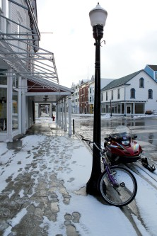 Mackinac ISland's Main Street in Winter
