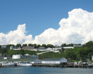 Mackinac Island Shoreline Docks