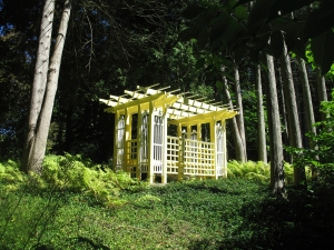 Pergola in the woods