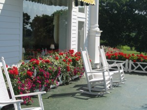 Porch Chairs at Grand Hotel