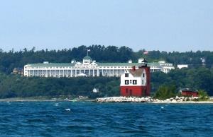 Grand Hotel from speedboat