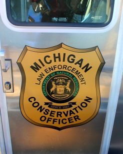Michigan Conservation Officers Emblem on Door