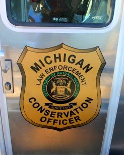 Michigan Conservation Officers Emblem on Door